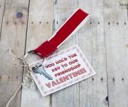 kids valentine keychain