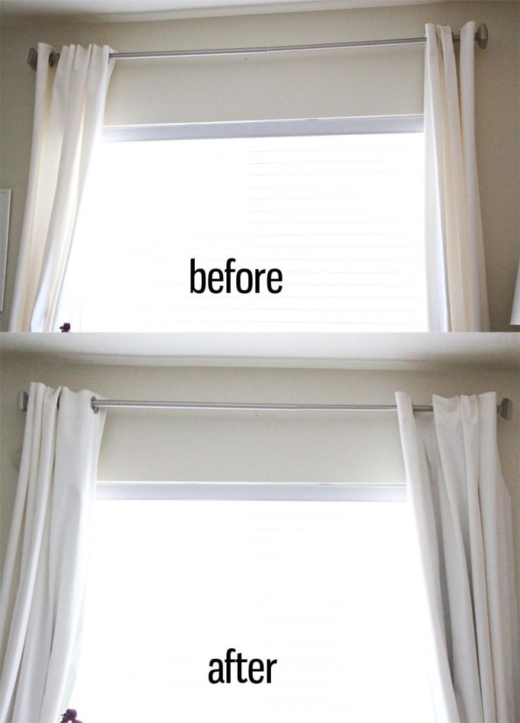 adding blackout curtains