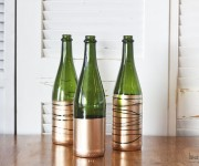 easy gold dipped bottles