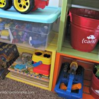 Colorful Crate Toy Storage