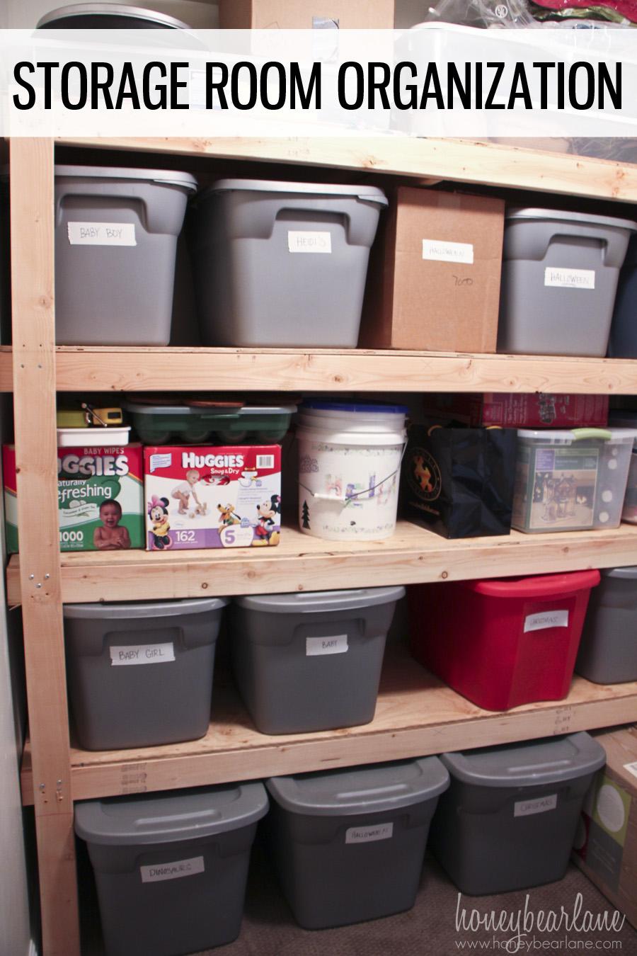 Storage Room Organization Honeybear Lane