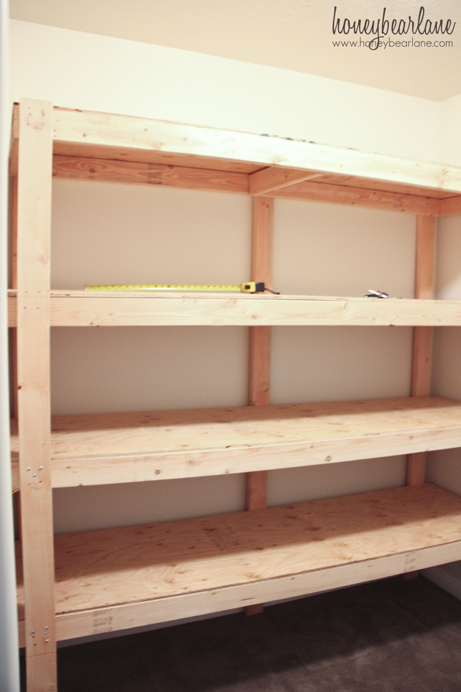 Diy Storage Shelves Honeybear Lane