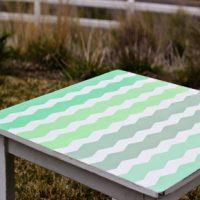 Ombre Chevron Striped Table