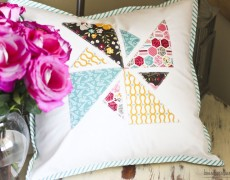 pinwheel applique pillow