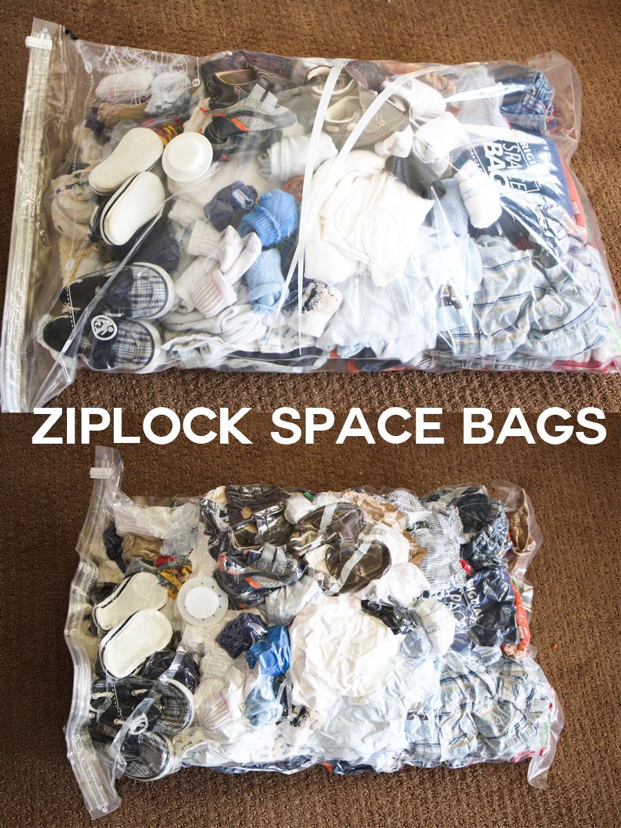 Ziploc Space Bag Under Bed Storage