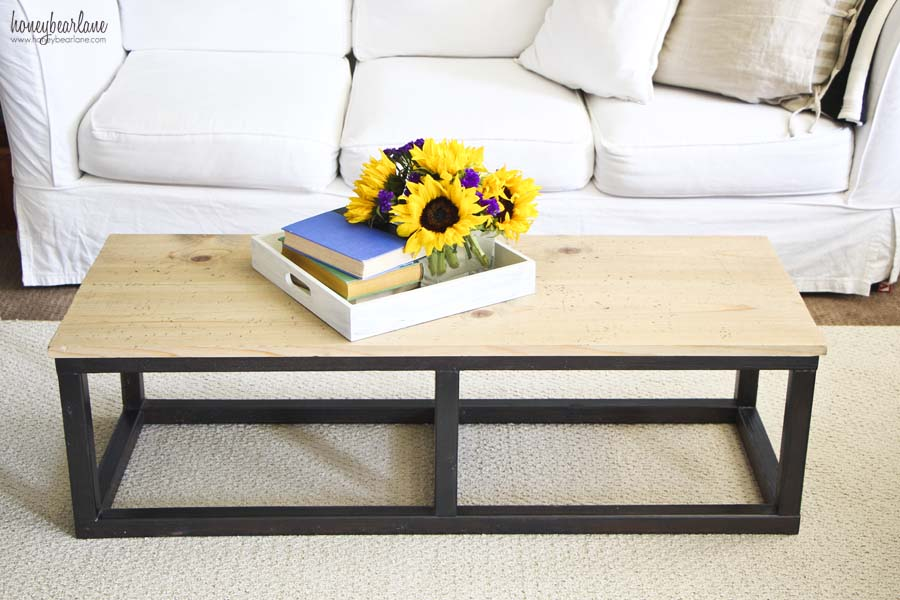 Diy industrial coffee table honeybear lane for Build your own couch cheap