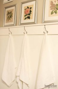 EASY DIY TOWEL HOOKS