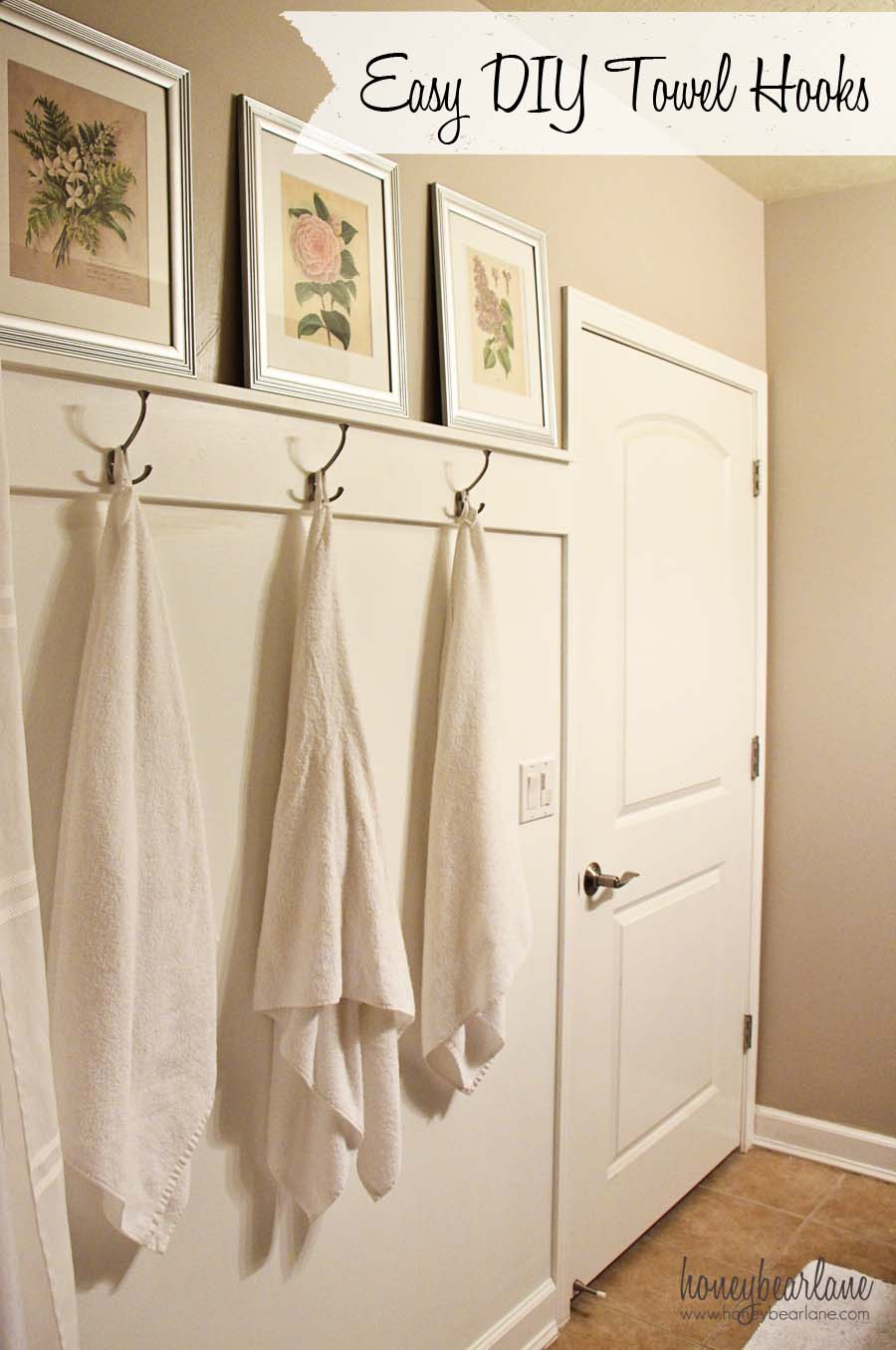 easy diy towel hooks honeybear lane stylish bathroom towel hook ideas with unique hooks and