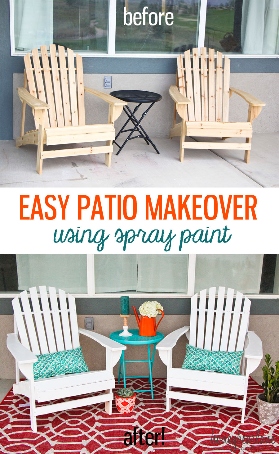 Easy Patio Makeover - HoneyBear Lane on Outdoor Patio Makeover id=57806