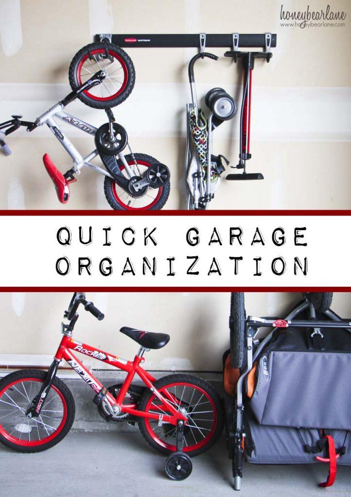 quick garage organization