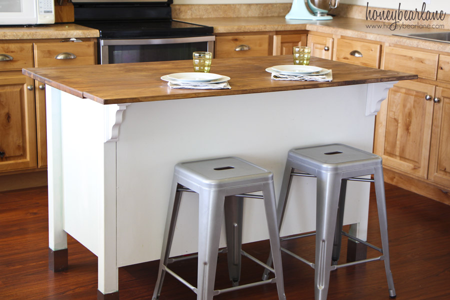 Savannah Kitchen Island With Stainless Steel Top
