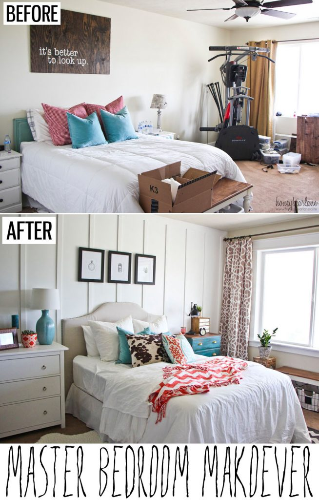 Master bedroom makeover honeybear lane Master bedroom makeover pinterest