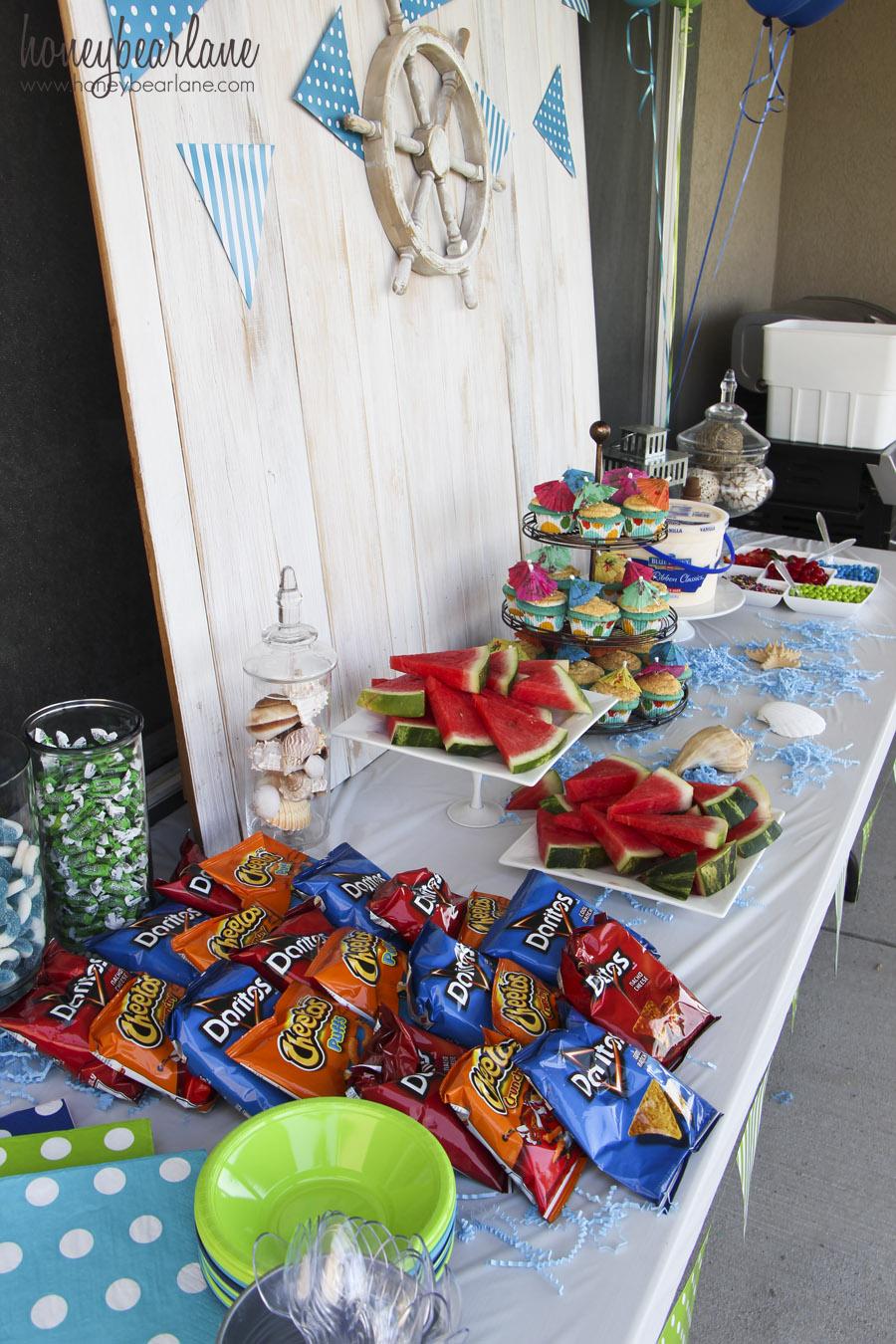 Water Themed Birthday Party Honeybear Lane