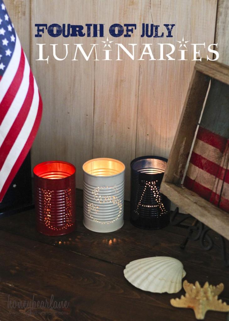 4th of july tin can luminaries