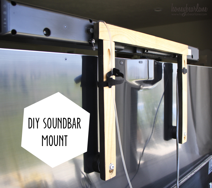 Diy Soundbar Mount Honeybear Lane