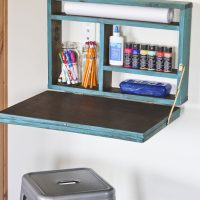 Painted Fold Down Desk