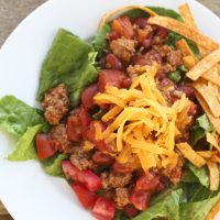 Low-Carb Turkey Taco Salad