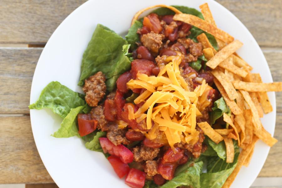 ... taco salad ingredients 1 lb ground turkey 1 package taco seasoning 1