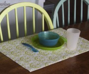 shelf liner as a placemat