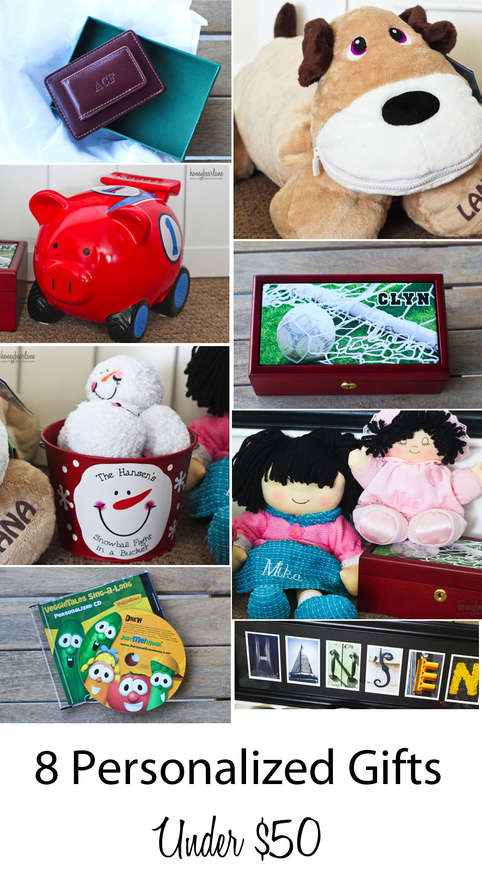 8 Personalized Gift Ideas Under 50 HoneyBear Lane