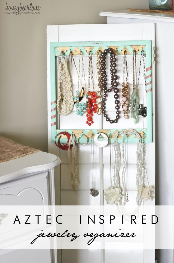 aztec inspired jewelry organizer