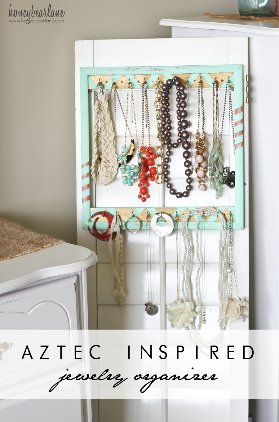 Aztec Inspired Jewelry Organizer Honeybear Lane