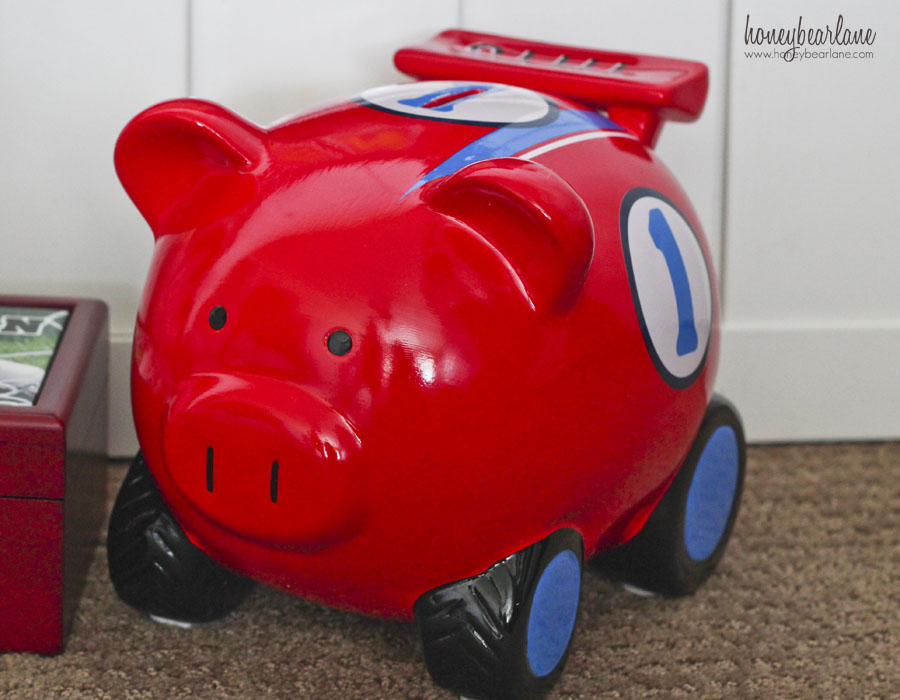 piggy bank racecar