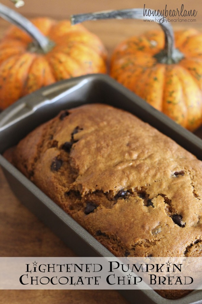 lightened pumpkin chocolate chip bread