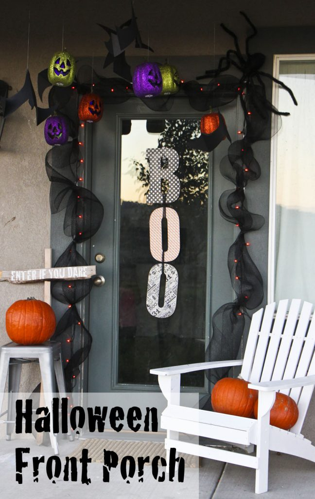 Halloween Front Porch Decor Honeybear Lane