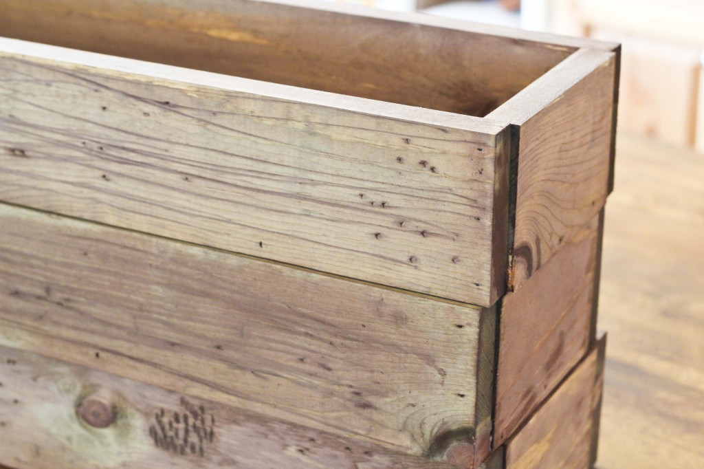 rustic wood boxes