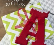 Snowy Monogram Gift Tags