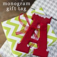 Snowy Monogram Gift Tags