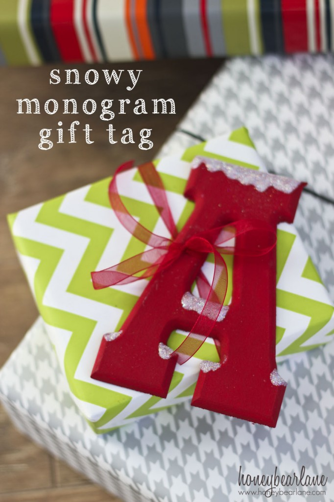 monogram gift tags