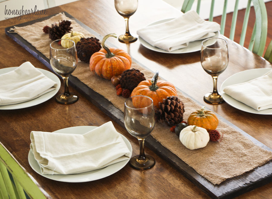 Easy thanksgiving centerpiece ideas honeybear lane
