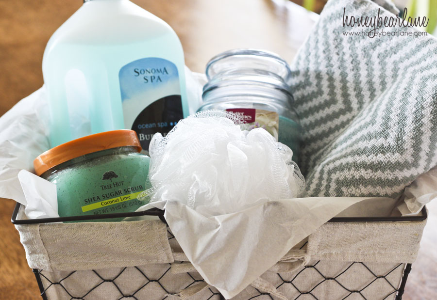 easy and cheap spa gift basket
