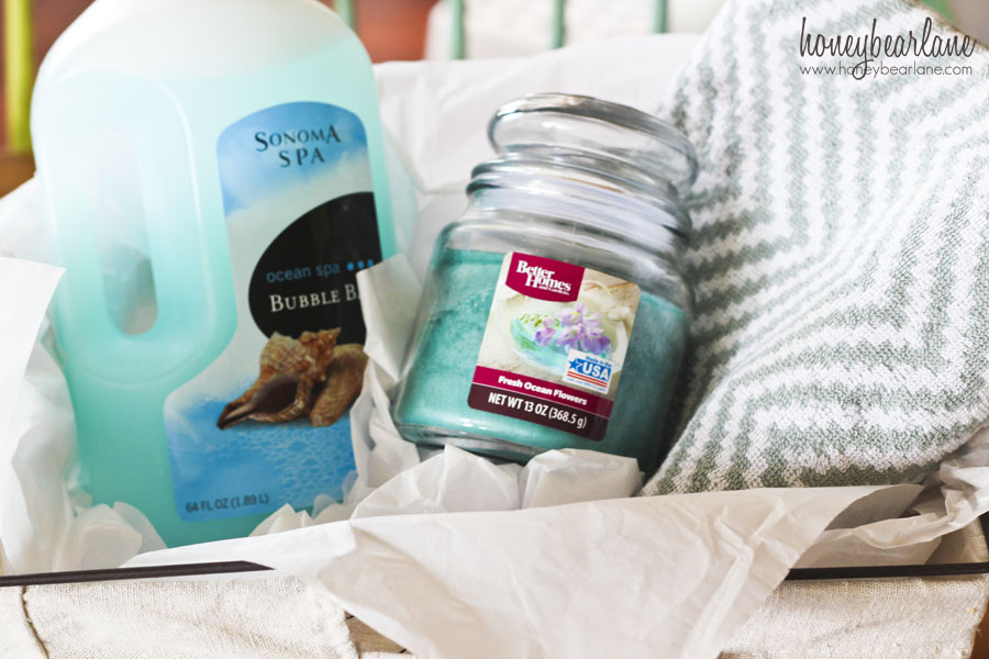 easy spa gift basket