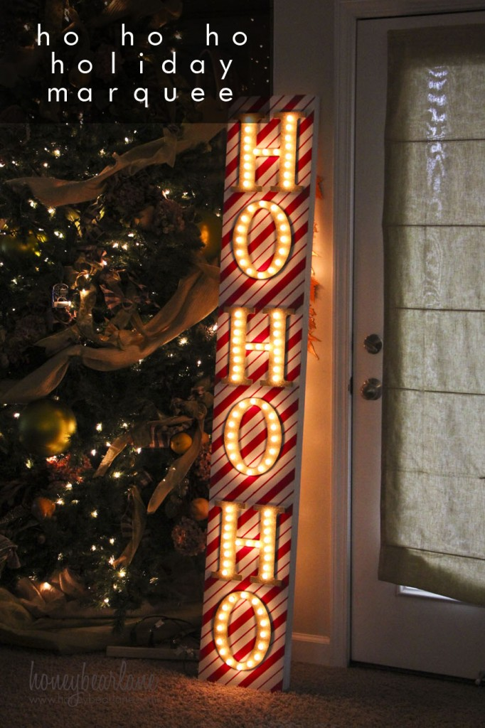 ho ho ho holiday marquee