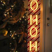 Ho Ho Ho Christmas Marquee Sign