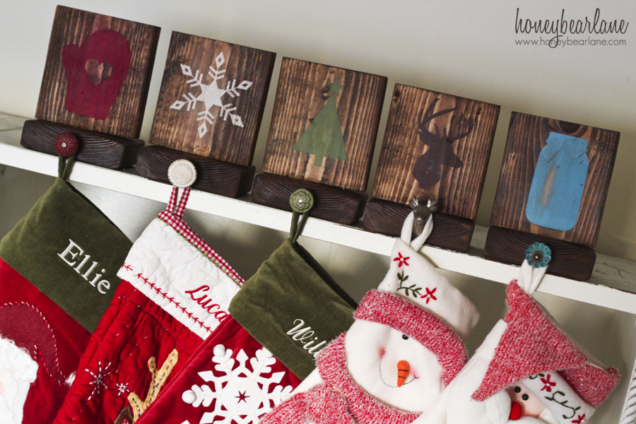 Rustic Stocking Holders Honeybear Lane