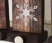 rustic stocking holder