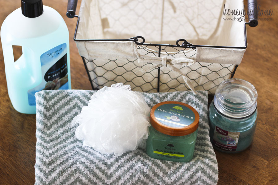 Spa Gift Basket Diy
