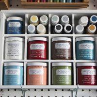 Chalky Finish Paint Organizer