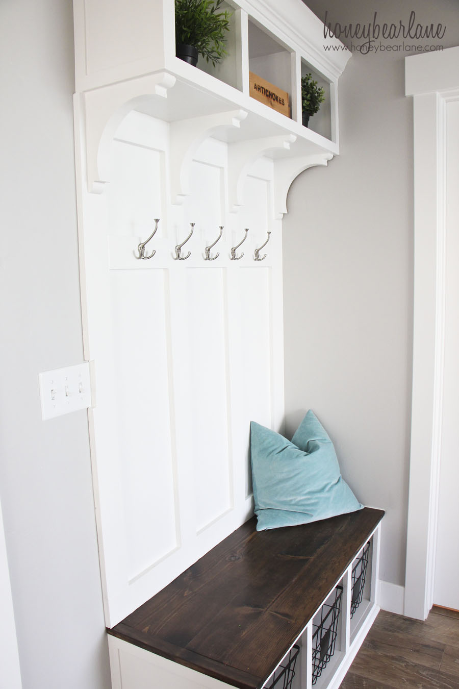 Entryway mudroom with bench and cubbies home heart and hands featured