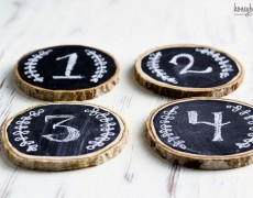 chalkboard numbered coasters