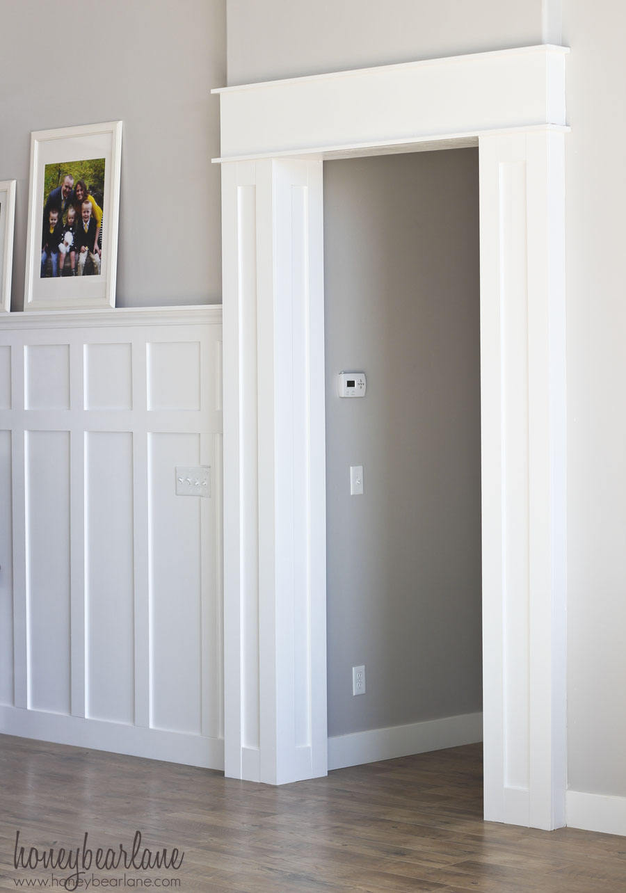 Diy doorway trim honeybear lane for Door moulding