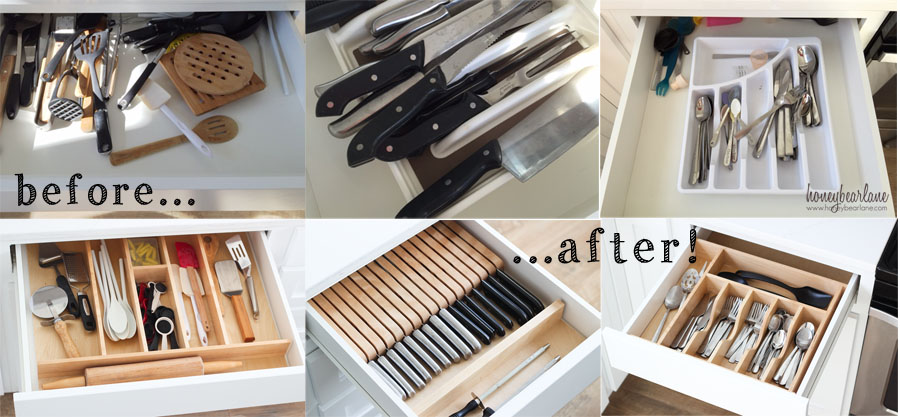 how to organize kitchen drawers organized kitchen drawers honeybear 7299