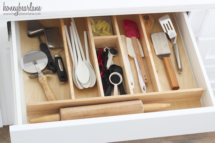 large utensil drawer organization