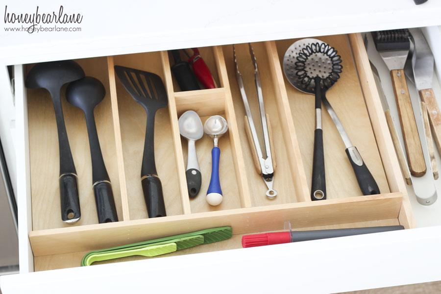 large utensil drawer