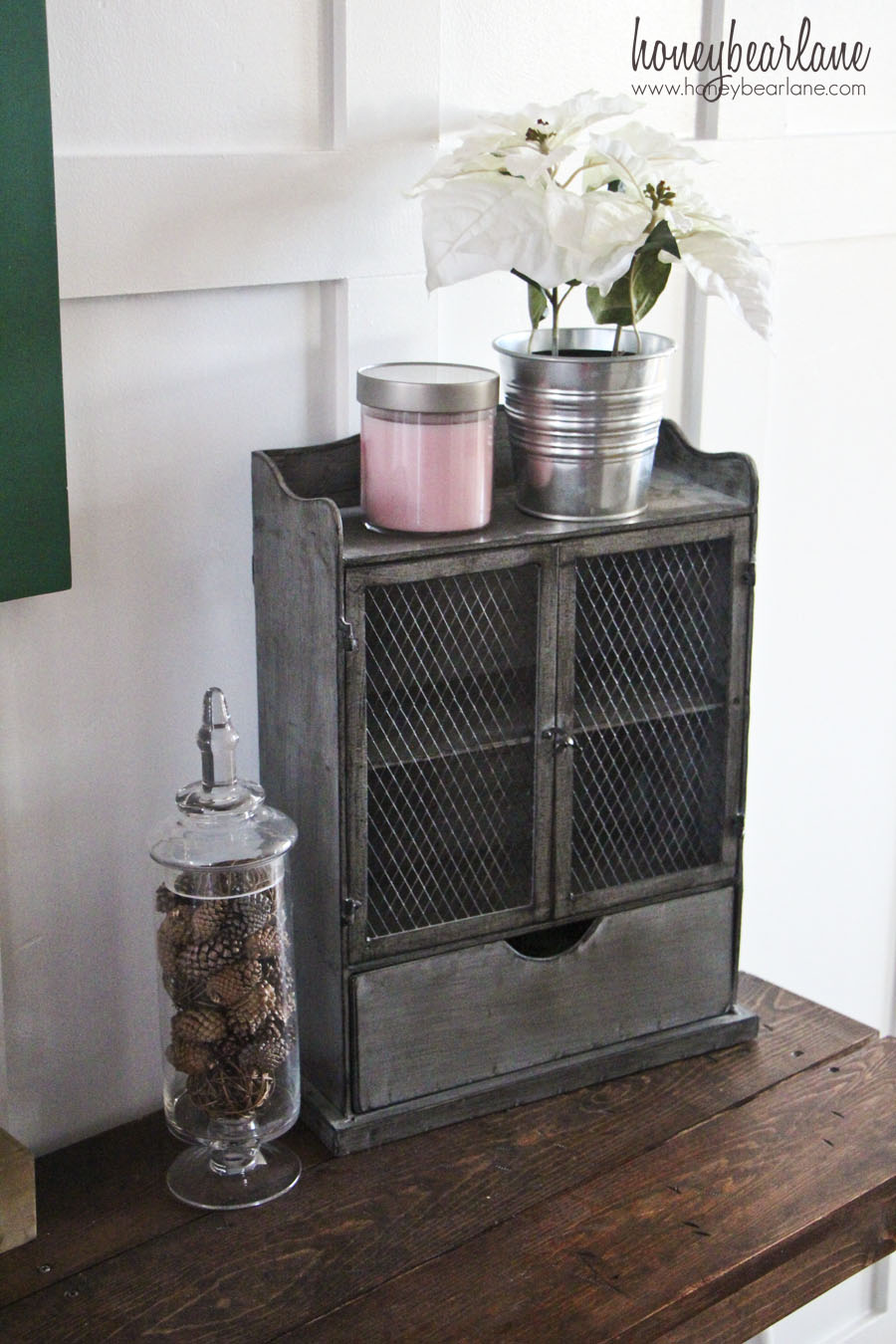 Metal Foyer Cabinet : Rustic entryway honeybear lane