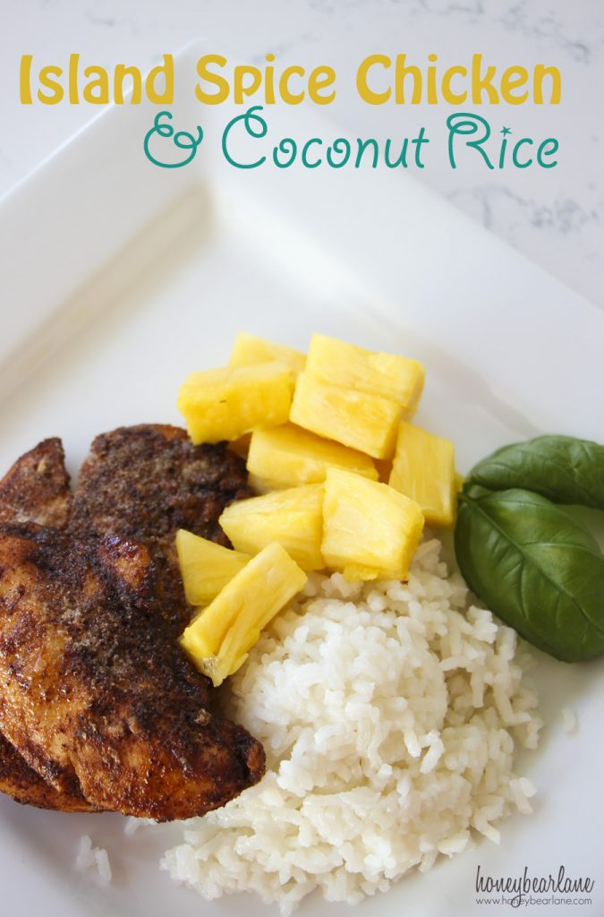 Island Spice Chicken and Coconut Rice - HoneyBear Lane